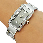 Mujer Reloj de Moda Reloj Pulsera Cuarzo La imitación de diamante Aleación Banda Destello Brazalete Plata
