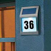 2-LED utendørs solcelledrevne rustfritt stål hvitt lys til dørplate