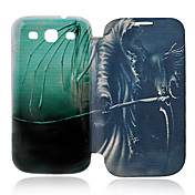 Para Funda Samsung Galaxy Carcasa Funda Flip Diseños Cuerpo Entero Funda Calavera Cuero Sintético para Samsung S3