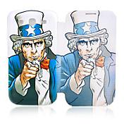 Americana Funda de cuero tío para Samsung Galaxy S3 I9300