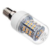 3W 250-300lm E14 LED-kornpærer T 46 LED perler SMD 2835 Varm hvit 220-240V