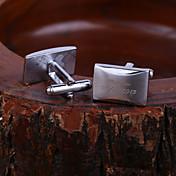 개인 선물 직사각형 새겨진 커프스 단추