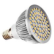 240 lm E14 Focos LED MR16 60 leds SMD 3528 Blanco Cálido AC 110-130V AC 220-240V