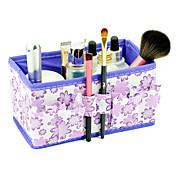 folding blomst mønster quadrate kosmetikk oppbevarings arrangør stand boks makeup børste potten (3 farger å velge