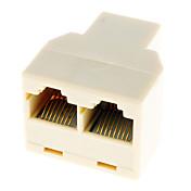 RJ45 1-2 de red LAN por cable divisor del enchufe del suplemento