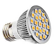 e26 / e27 led spotlight mr16 21 smd 5050 240lm blanco cálido 3500k ca 110-130 ca 220-240v
