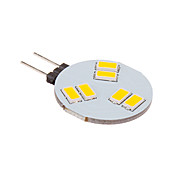 G4 Focos LED 6 leds SMD 5630 Blanco Cálido 260lm 2500-3500K DC 12V