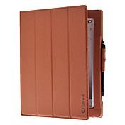 Etui Til iPad 4/3/2 med stativ / Autodvale / aktivasjon / Origami Heldekkende etui Helfarge PU Leather til