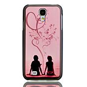 Romantic Lovers repujado Pintura Patrón cubierta del caso plástico trasero duro para el Samsung Galaxy S4 i9500