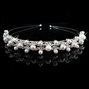 Mujer Niña de flor Diamantes Sintéticos Perla Artificial Celada-Boda Bandas de cabeza