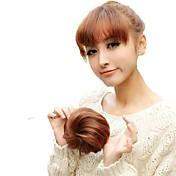 høy kvalitet bryllup bruden chignon bun syntetisk 5 tommers parykk hår forlengelse