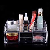 akryl gjennomsiktig kompleks kombinert dobbelt lag kosmetikk oppbevaringsboks kosmetiske arrangør