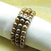 Mange Farge Perle Krystall Serviett Ring,, Krystall Sett Av 12 Perle, 4,5 Cm,,