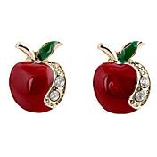 Mujer Pendientes cortos - Brillante, Diamante Sintético Apple Lujo, Moda Para Fiesta / Diario / Casual