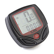 Ciclismo/Bicicleta Ordenador de Bicicleta Indicador de Exceso de Velocidad Conveniente Reloj Cronómetro Odómetro - Odo Negro