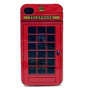 El TPU Patrón Soft Case Simulación Cabina de teléfono para el iPhone 4/4S