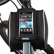 ROSWHEEL Bolsa para Cuadro de Bici Bolso del teléfono celular 5.5 pulgada A prueba de polvo Pantalla táctil Ciclismo para iPhone X iPhone