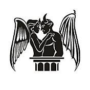 천사와 악마 패턴 장식적인 차 스티커