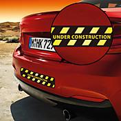 Construcción Advertencia patrón decorativo etiqueta engomada del coche