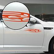 Red Flow Liner Mønster Dekorative Car Sticker