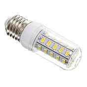 E26/E27 LED-kornpærer T 36 LED SMD 5730 Varm hvit 650lm 3000-3500K AC 220-240V