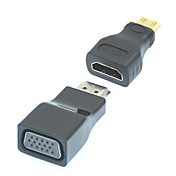 2 en 1 Mini 1080P HDMI / HDMI a VGA adaptador convertidor de vídeo