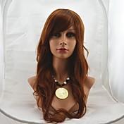 24 인치 캡리스 긴 고품질 합성 물결 모양의 부드러운 머리 가발 믹스 # 30