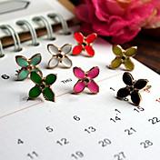Vintage (flor) Pendientes de plata de la aleación (1 par)