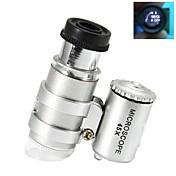 2 - LED 조명등을 가진 최고 소형 45X 플라스틱 현미경 광학 유리 렌즈 (3 *의 LR927)