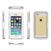 Etui Til Apple iPhone 6 iPhone 6 Plus Vanntett Gjennomsiktig Lomme Helfarge Myk PC til iPhone 7 Plus iPhone 7 iPhone 6s Plus iPhone 6s