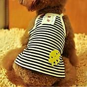 Verano - Negro / Morado Algodón - Camiseta - Perros - XS / S / M / L / XL