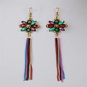 clásicos de moda multicolor joya pendientes de la aleación de varios colores (de varios colores) (1 par)