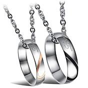 Herre Dame Form Mote Anheng Halskjede Titanium Stål Anheng Halskjede Bryllup Fest Daglig Avslappet Kostyme smykker