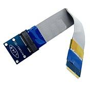 mini-pci express flexibles pci-e tarjeta mini extensor 52pin macho a cable FFC extensión femenino