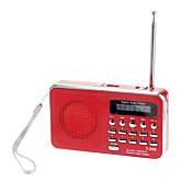 t-205 spille av lyd minnekort direkte aux lydinngang høy følsom FM-stereoradio høyttaler