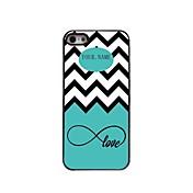 las olas del mar regalo personalizado y el caso del diseño de metal amor para el iphone 5 / 5s