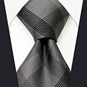 Hombre Trabajo Seda Corbata,Un Color Gris