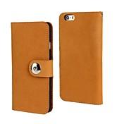 nubuck de la carpeta del cuero genuino para el iphone Fashion® 6 más 5,5 con ranura para tarjeta de soporte (color surtidos)