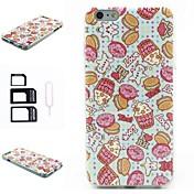 cubierta suave del silicón del patrón palomitas de moda para el iphone 6 más