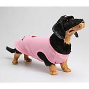 Perro Camiseta Ropa para Perro Letra y Número Rosa Algodón Disfraz Para mascotas Hombre Mujer Casual/Diario