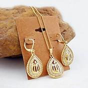 Mujer Zirconia Cúbica Conjunto de joyas - Zirconio, Chapado en Oro Incluir Dorado Para Boda / Fiesta / Diario / Pendientes / Collare