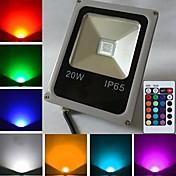 10W 450-700 lm LED-lyskastere 1 leds Høyeffekts-LED Fjernstyrt RGB AC 85-265V