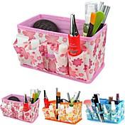 folding blomstermønster kosmetikk oppbevaringsstativ boks makeup børste potten kosmetiske arrangør