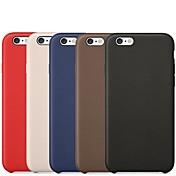 Funda Para Apple iPhone 6 iPhone 6 Plus Other Funda Trasera Color sólido Dura Cuero de PU para iPhone 6s Plus iPhone 6s iPhone 6 Plus