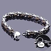 joyería de acero inoxidable pulsera de cadena regalo personalizado grabado