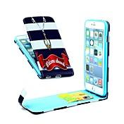 welcom cuero de la PU caso de cuerpo completo vertical con soporte de la tarjeta para el iphone 6 más