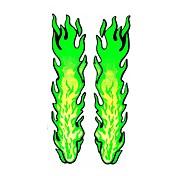 serie bricolaje patrón de la llama gran decoración diseño pvc adhesivo para el coche y otros