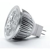 4W GU5.3(MR16) LED 스팟 조명 MR16 5 고성능 LED 350-450 lm 따뜻한 화이트 DC 12 V