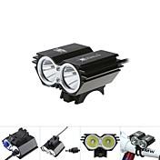 Luces para bicicleta / Bulbos de Luz LED / Luz Frontal para Bicicleta / brillo luces para bicicletas LED Cree XM-L T6 CiclismoA Prueba de