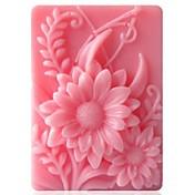 herramientas de decoración de fondant pastel de chocolate de silicona pastel de molde en forma de girasol, l9.2cm * w6.8cm * h3cm
